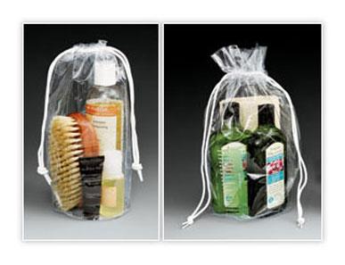 Clear Vinyl Drawstring Bags