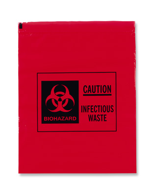 Infectious Waste and Biohazard Transport Poly Bags for Laboratory