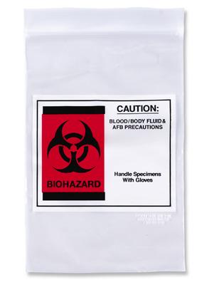 Laboratory Poly Bag | Specimen Document Zipper Bags w/Pouch