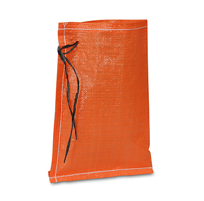 Orange Woven Polypropylene Bags with Tie Strings