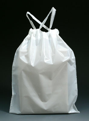 White Draw Tape Poly Bags