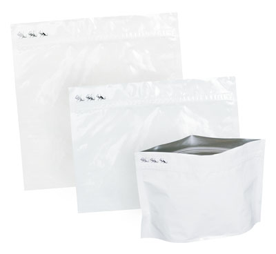 White Relyon Bags with Safety Zip